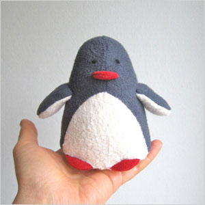 Penguin stuffed toy