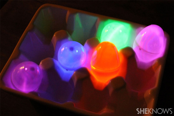 Glow in the dark eggs paint eggs