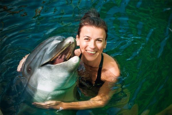 Swim with sea creatures