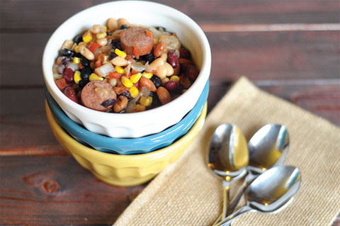 4 bean smokey tex-mex soup