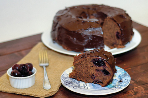 chocolate covered cherry pound cake