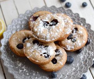 Lemon blueberry pancake popover