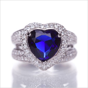Engagement ring gem color