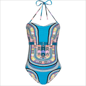 One piece printed swimsuit