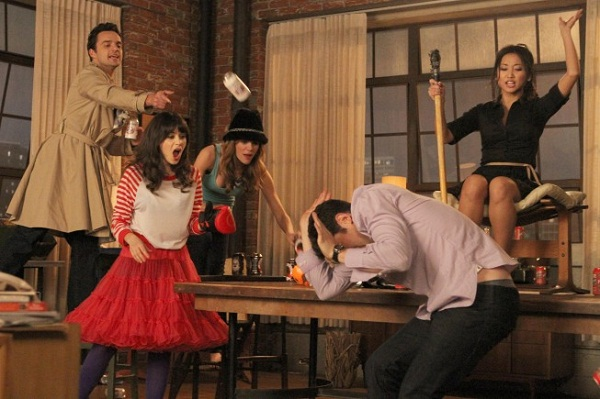 The New Girl cast playing True American
