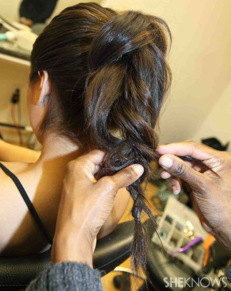 Ponytail braid step 5