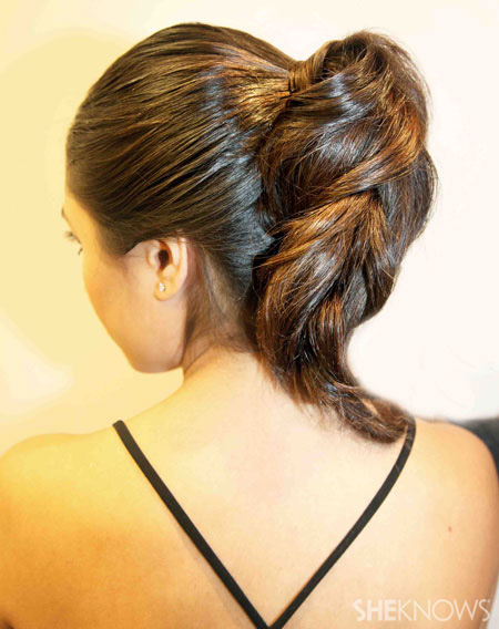 Ponytail braid step 6
