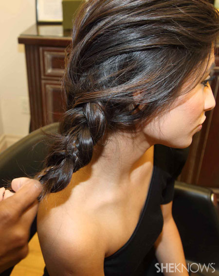Side braid step 5