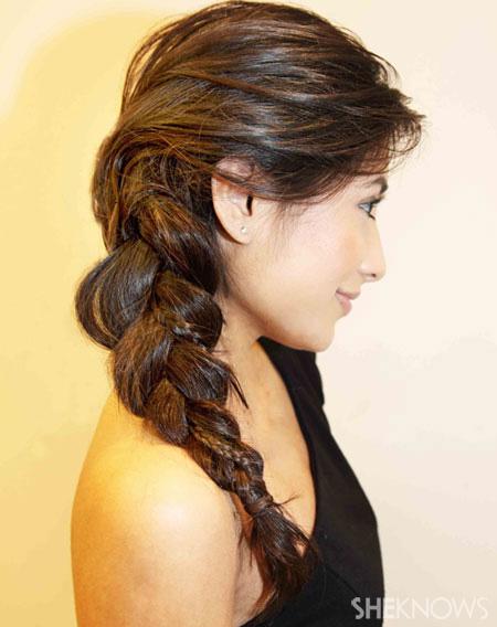 Side braid step 6