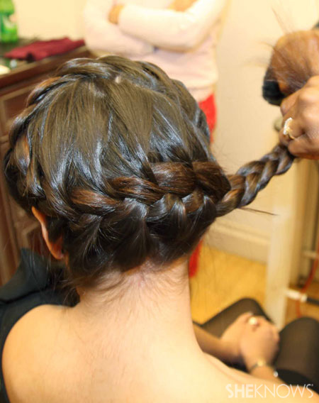 The snake braid step 4