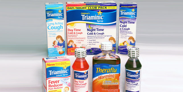 Triaminic and TheraFlu products