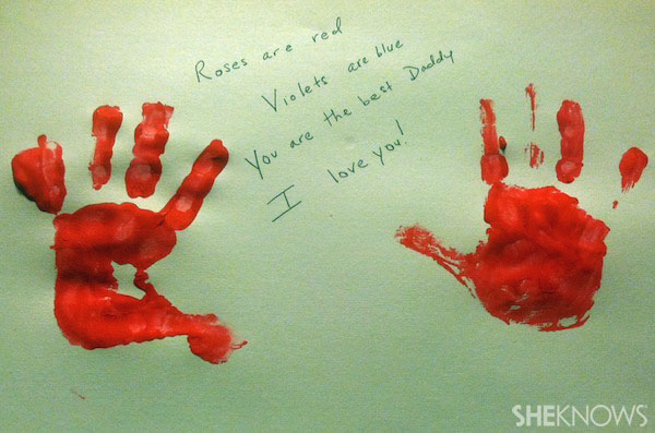 Handprints for Valentine's Day