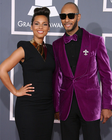 Alicia Keys and Swizz Beatz at the 2012 Grammy Awards