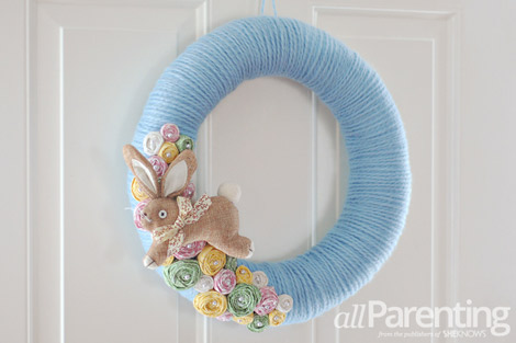 Finished Pretty Easter wreath