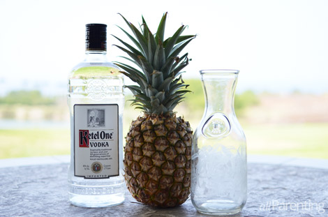 PIneapple infused vodka ingredients