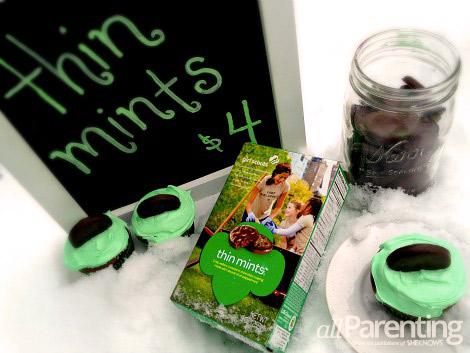 Thin Mints cupcake