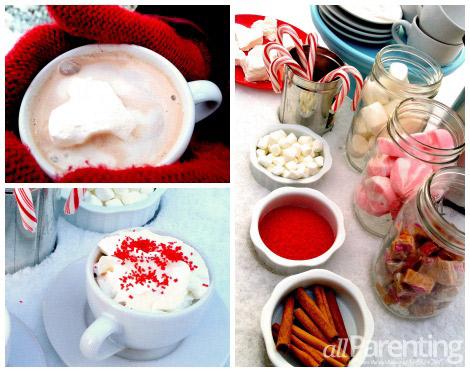 Hot chocolate bar collage
