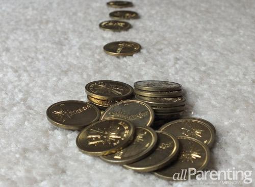 Leprechaun fun- leaving gold coins