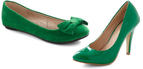 Luck of the Irish flats and heels