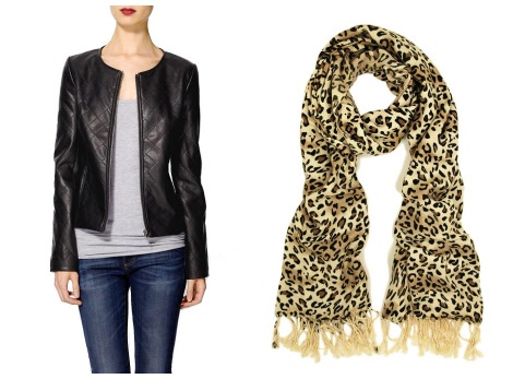 Malin Akerman jacket and scarf