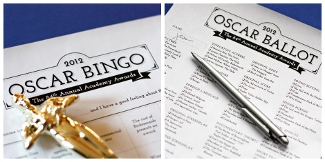 OScars bingo and ballot collage