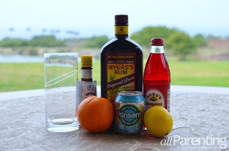 Planter's Punch rum cocktail ingredients