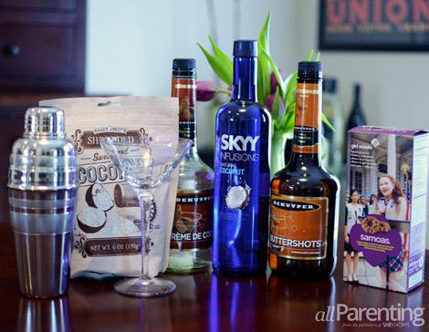 Sassy Samoas martini ingredients