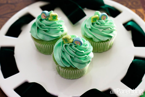 Luck of the Irish cupcakes