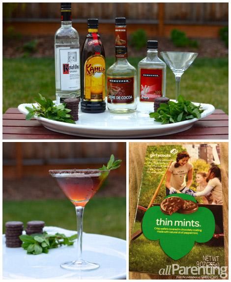 Thin Mint Martini collage