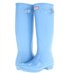 Hunter blue rainboots aP splurge