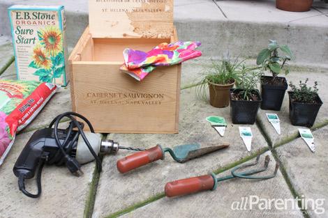 Herb garden in a box