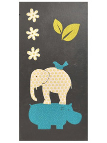 Elephant and hippo print