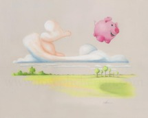 Pigs fly print