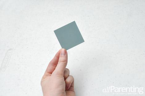 paint chip calendar step 1