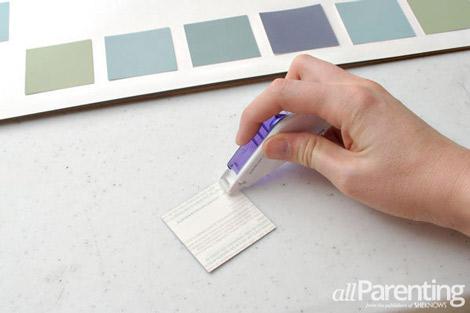 paint chip calendar step 3