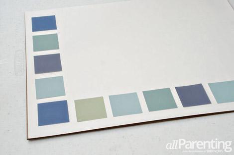 paint chip calendar step 4