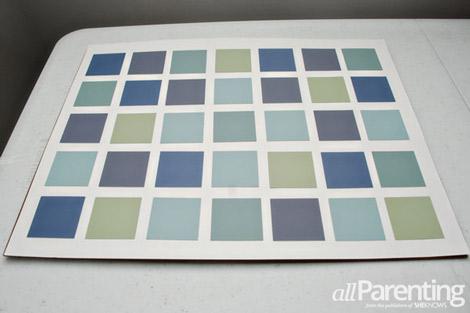 paint chip calendar step 5
