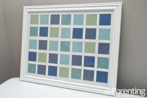 paint chip calendar step 6