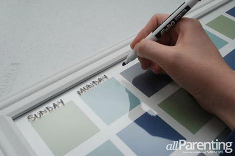 paint chip calendar step 7