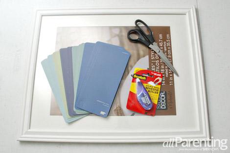 Paint chip calendar materials
