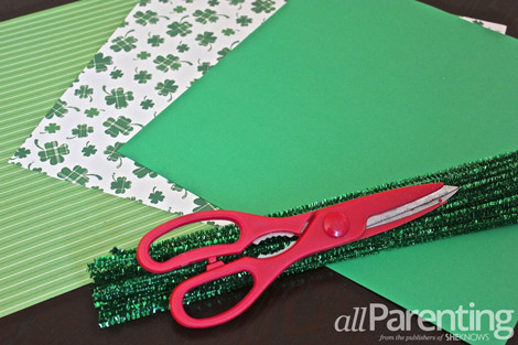 Shamrock pinwheel supplies