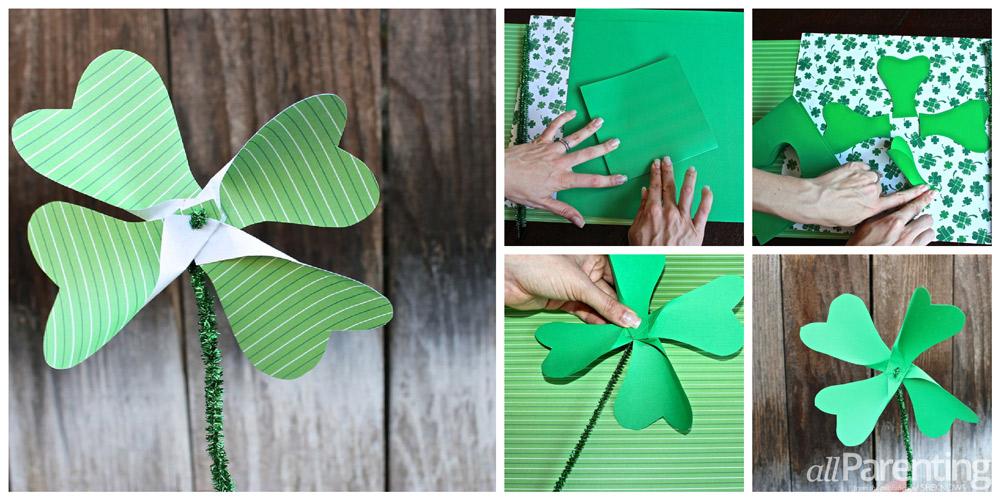 allParenting Shamrock pinwheel collage