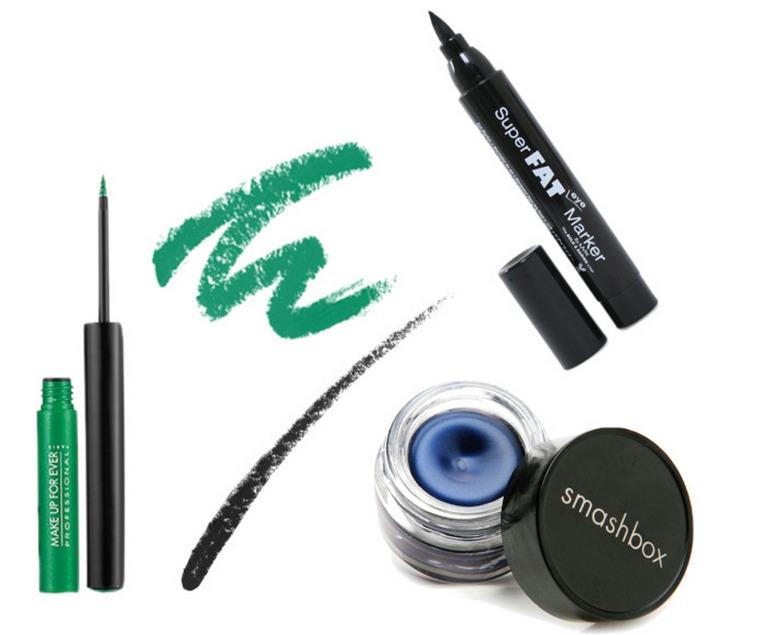 Spring makeup bold eyeliner products