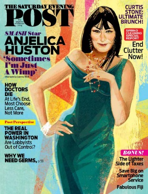 Anjelica Huston muses on love