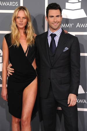 Anne V. and Adam Levine at the 2012 Grammys