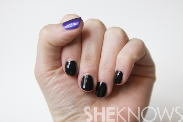How to do a ravens-inspired nail design