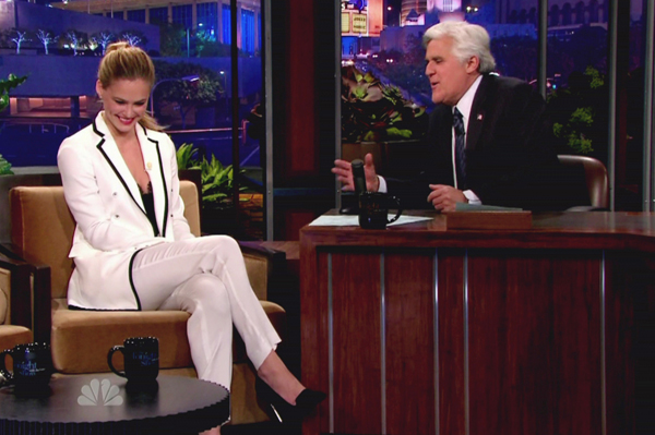 Jay Leno and Bar Refaeli