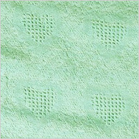Mint Green Honeycomb Heart Mini Afghan Throw Blanket, $19.99