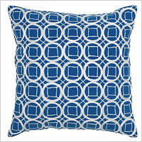 Cobalt Blue Circles and Squares Pillow, $32.95