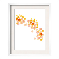Orange Float Framed Art Print, $59.99